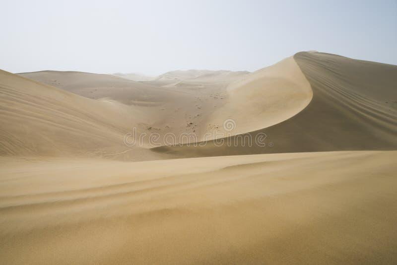 Sand dunes landscape and waves of sand in Gobi Desert in China, Gobi Desert, China. Sand dunes landscape and waves of sand in the Gobi Desert in China, Gobi royalty free stock images