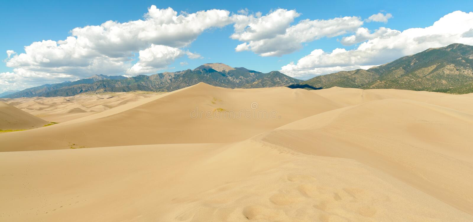 Download Sand dunes and mountains stock photo. Image of yellow - 21825640