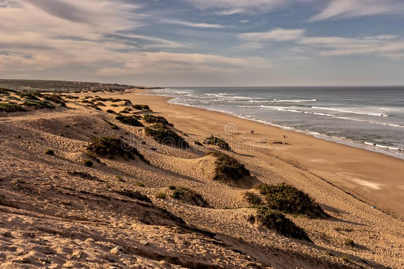 Sand dunes near Sidi R´bat on the atlantic coast of south morocco royalty free stock photos