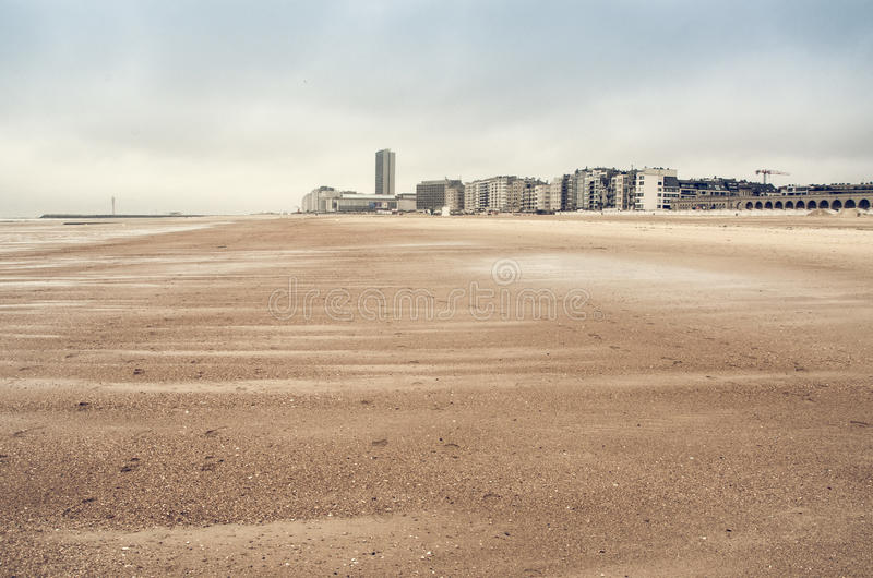 Sand dunes on North Sea royalty free stock images