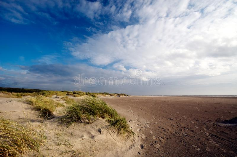 Sand dunes and ocean royalty free stock images