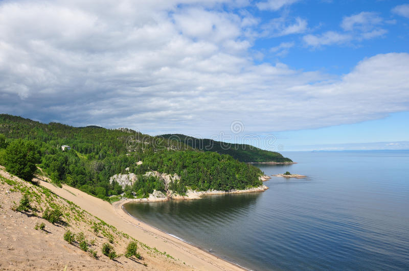 Sand dunes in the region of Charlevoix, Quebec, Canada.  royalty free stock photography