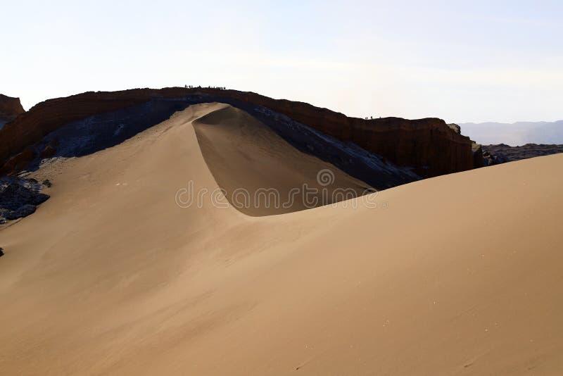 Valley of the Moon - Valle de la Luna, Atacama Desert, Chile. Sand dunes and rocks in the extreme landscape of the Atacama desert, Valley of the Moon Valle de la royalty free stock images