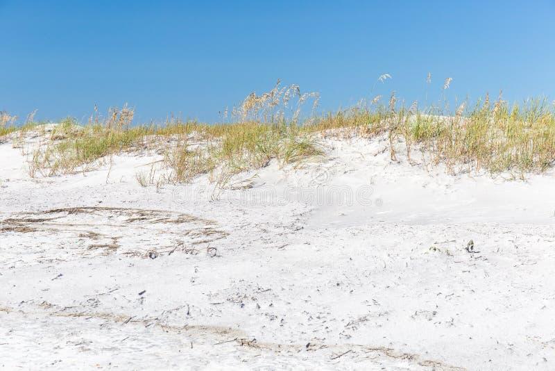 Sand Dunes at Topsail Beach, North Carolina. Sand dunes and sea oats along the beach at Topsail Island, North Carolina stock images