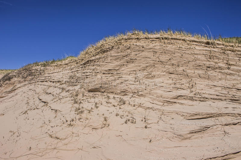 Sand Dunes on South Manitou Island royalty free stock photo