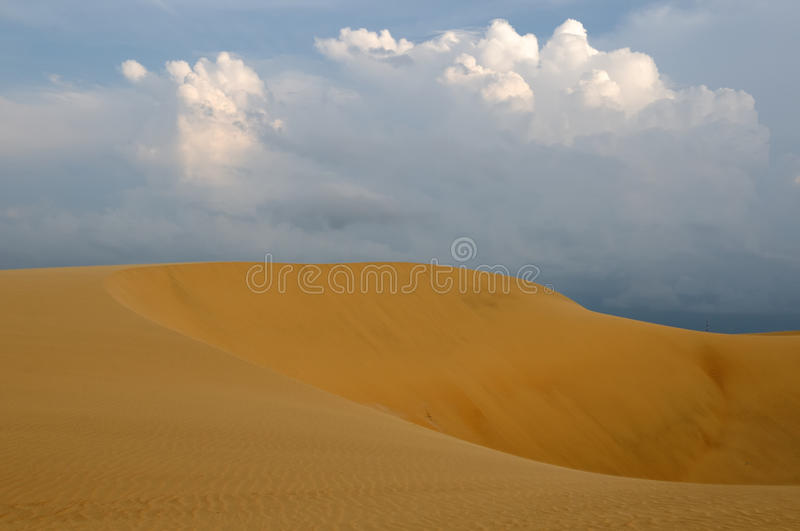 Sand dunes in Venezuela near the city of Coro. Venezuela, magnificent sand dunes can be over 30 meters tall of the Medanos De Coro National Park near the city of royalty free stock images