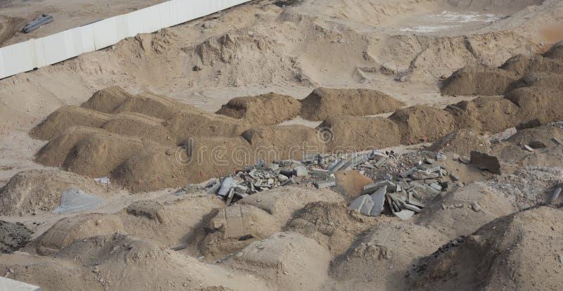 Sand eller smuts för fundament arkivfoto