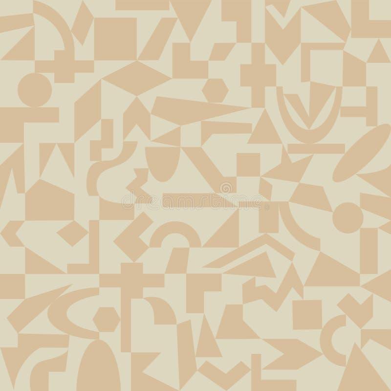 Sand-färgad modell av geometriska former vektor illustrationer