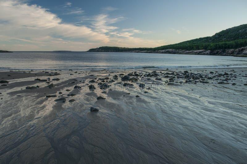 sand för acadiastrandmaine nationalpark royaltyfri bild