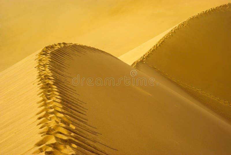 sand för dynfotspårbana arkivfoto
