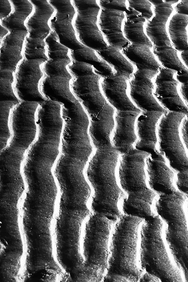 sand för krusningar för closeupdynmodell röd arkivbild