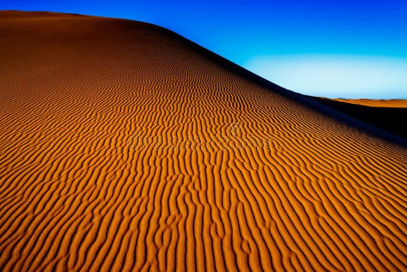 Sand för Sahara öken royaltyfria foton