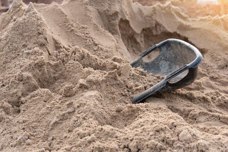 Sand für Baustelle lizenzfreie stockbilder