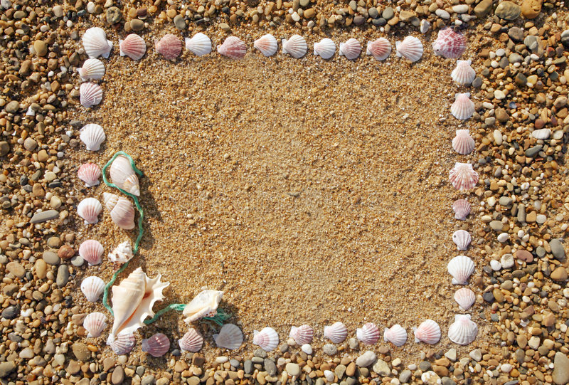 Sand frame royalty free stock photography
