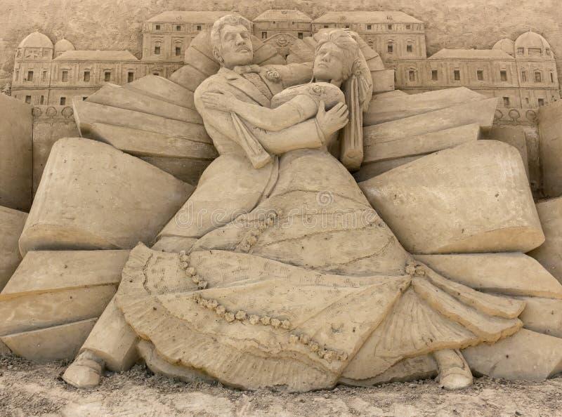 Sand gestaltet Ausstellung lizenzfreie stockfotografie
