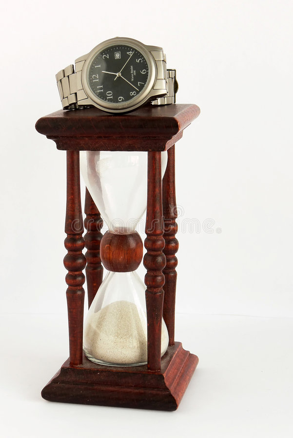 Free SAND-GLASS AND WATCH Stock Photography - 1974832