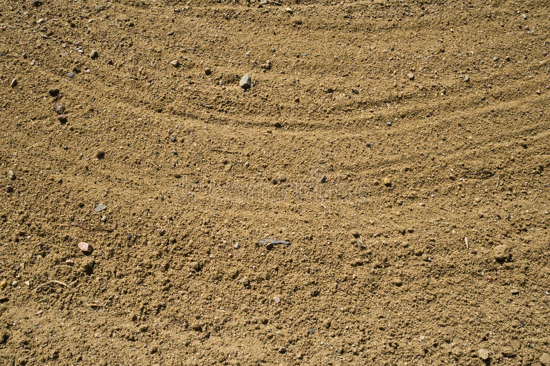 Sand In Golf Bunker Stock Images