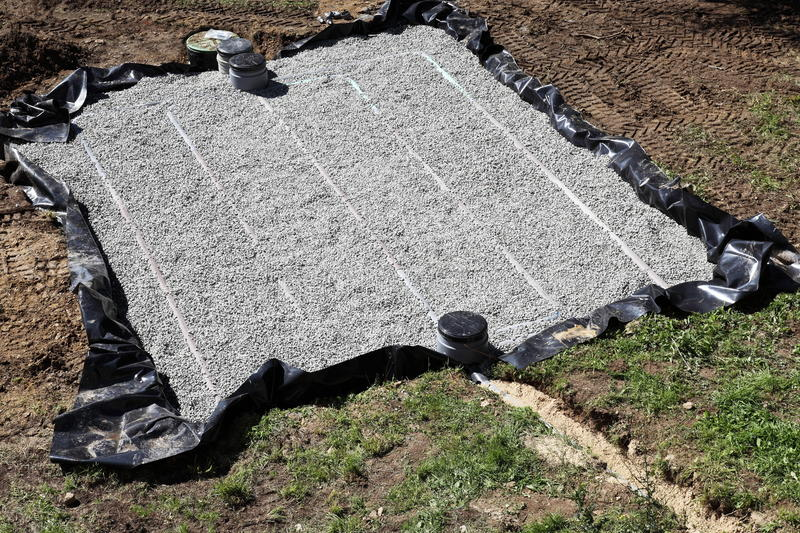 Download Sand And Gravel Filter Bed For Septic Tank Stock Image - Image: 22933273