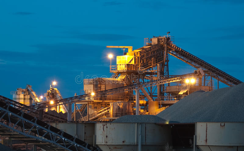 Sand and Gravel Quarry royalty free stock images