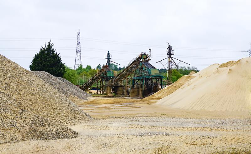 Sand gravel and stone yard. stock photo