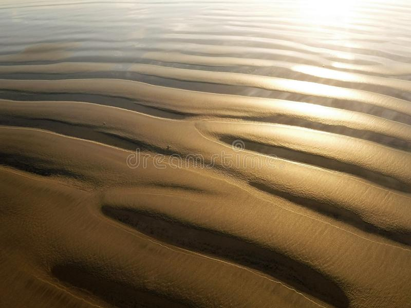 Sand grooves royalty free stock photo