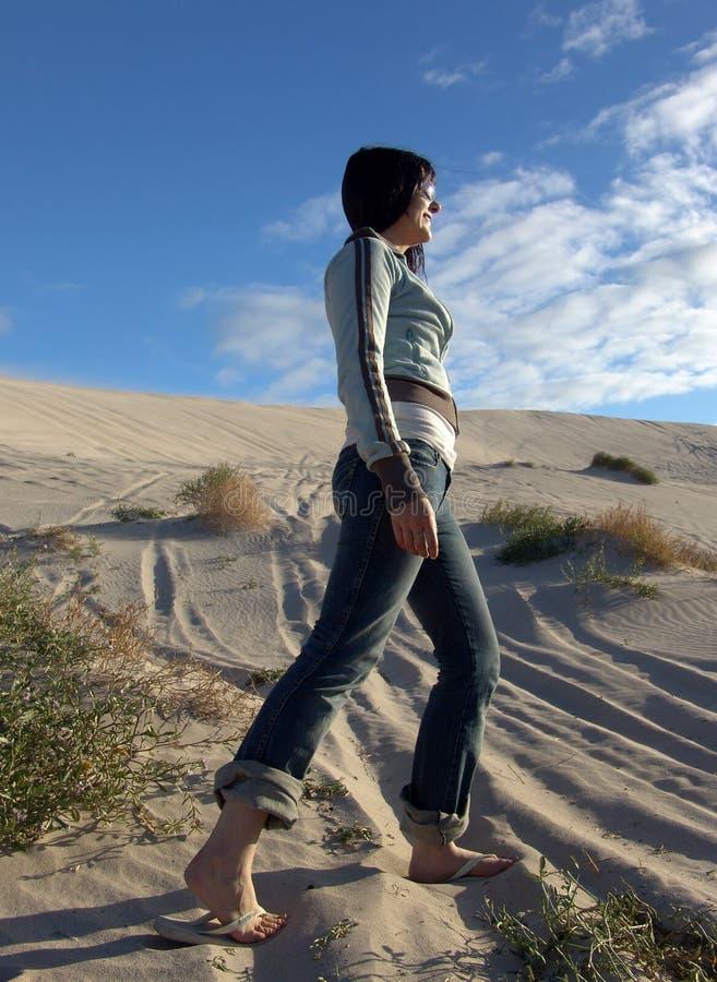 Sand Hike stock image