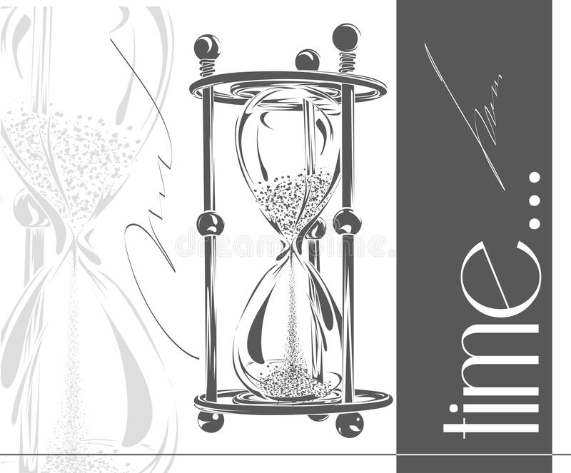 Sand hourglass. Simple and elegant sand-glass timer. Sand clock vector illustration. vector illustration