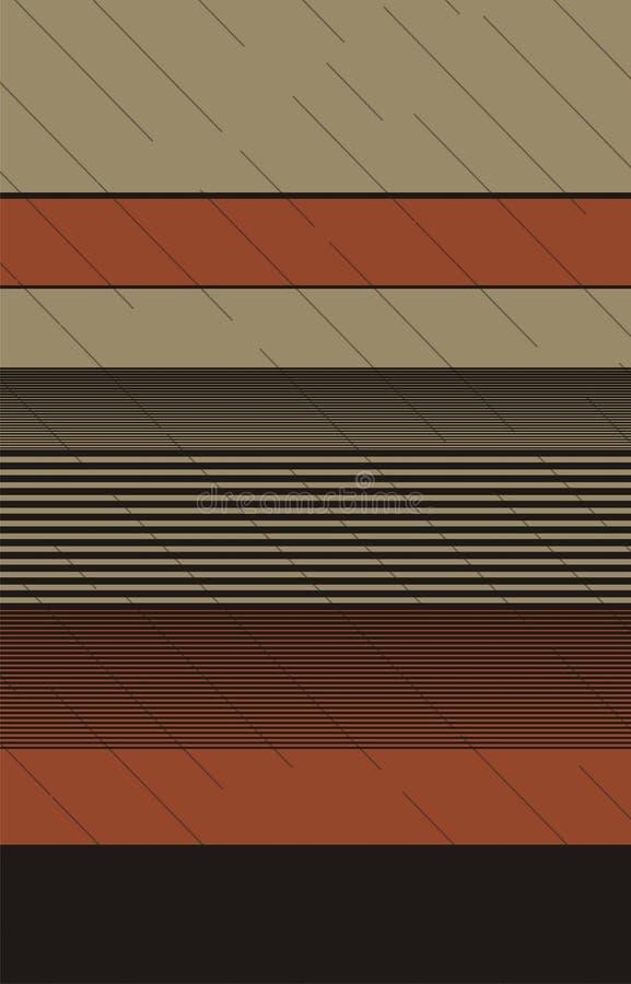 Sand kaffe, för färg` för apelsin 3 design för vektor för band med över hela den diagonala linjen textur stock illustrationer