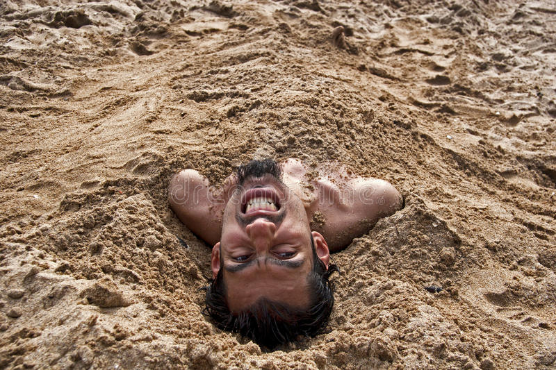 Sand man stock images