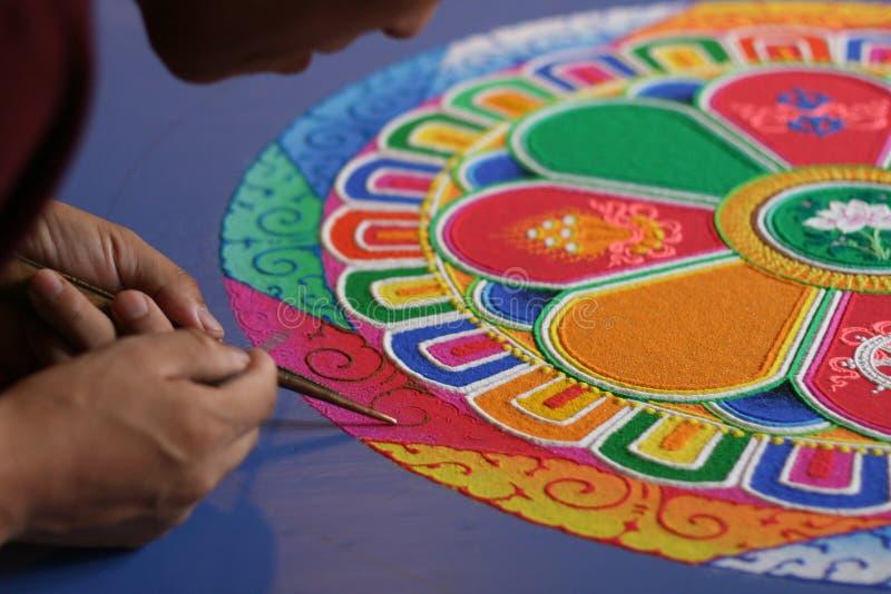 Sand-Mandala stockfotografie