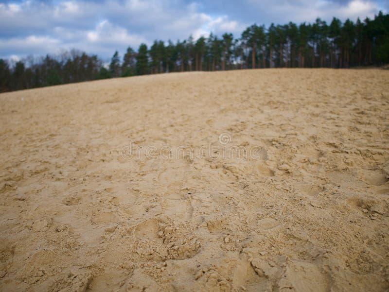 Sand med fotsteg arkivbild