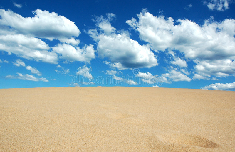 Sand meets Sky stock photos