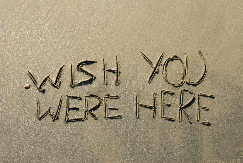 Sand message royalty free stock photo