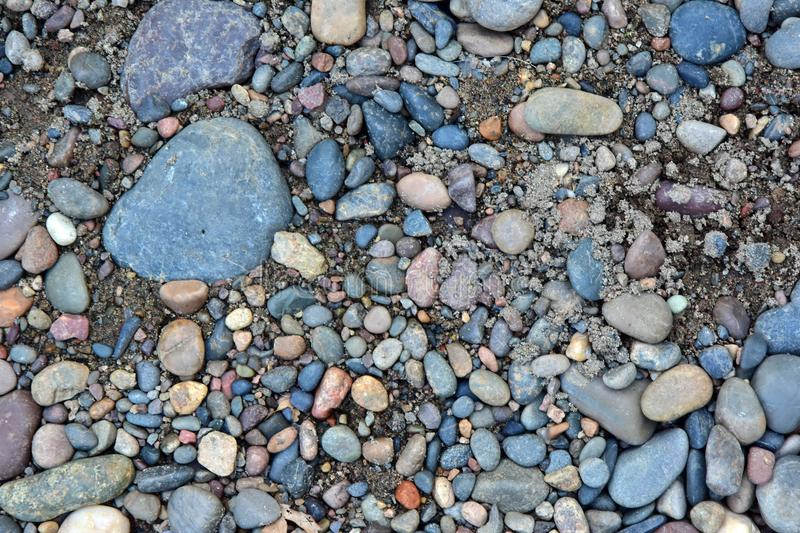 Sand mixed with coarse gravel stock photos
