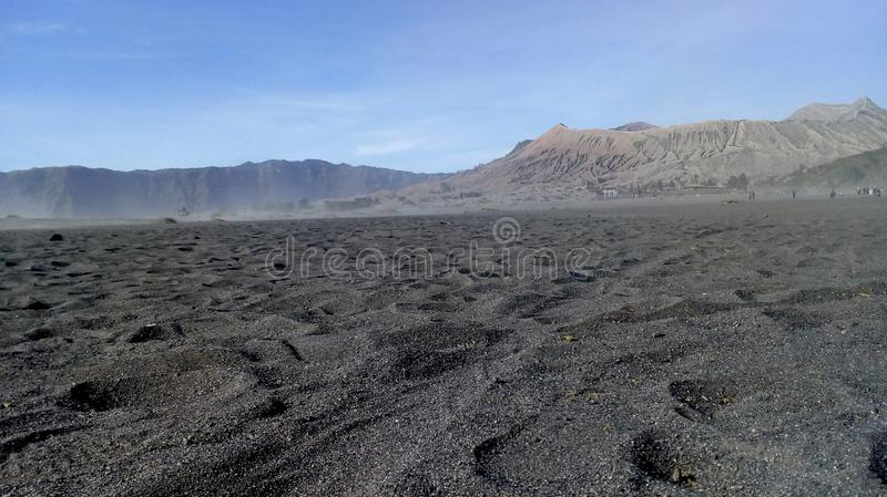 Sand on mountain royalty free stock images