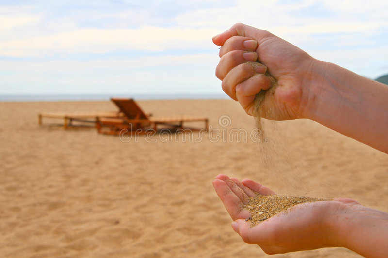 Sand In My Hands royalty free stock photography