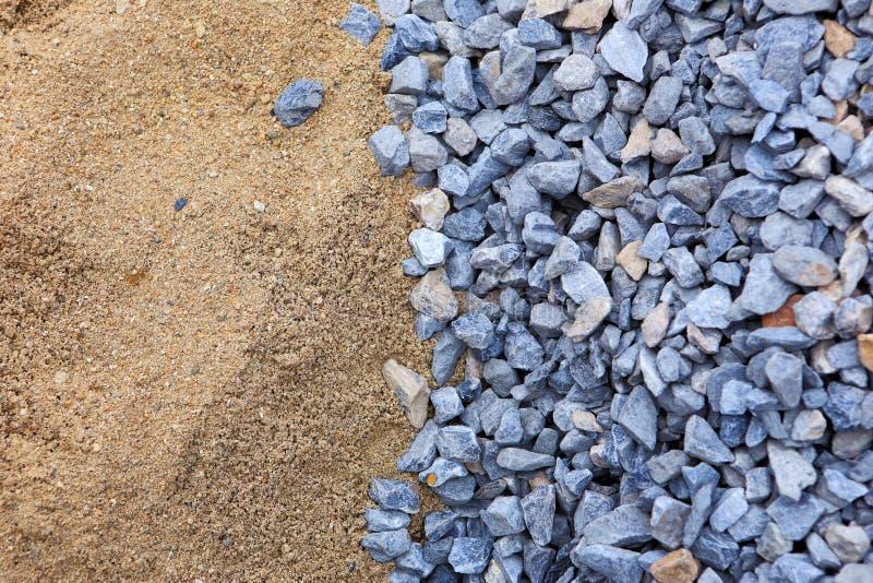 Sand och sten för byggnation arkivfoto