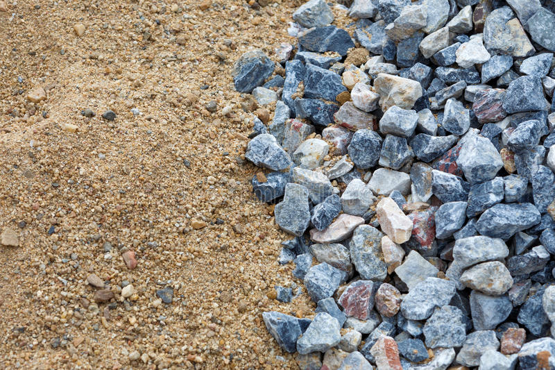 Sand och sten för byggnation royaltyfri foto