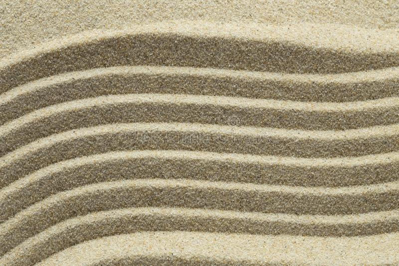 Sand pattern. Close up as background stock images