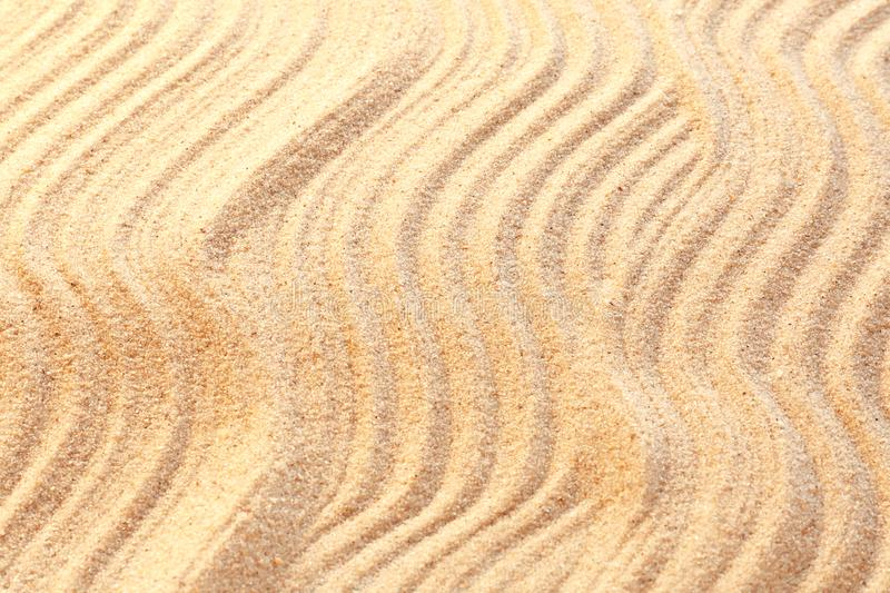 Sand with pattern, closeup royalty free stock image