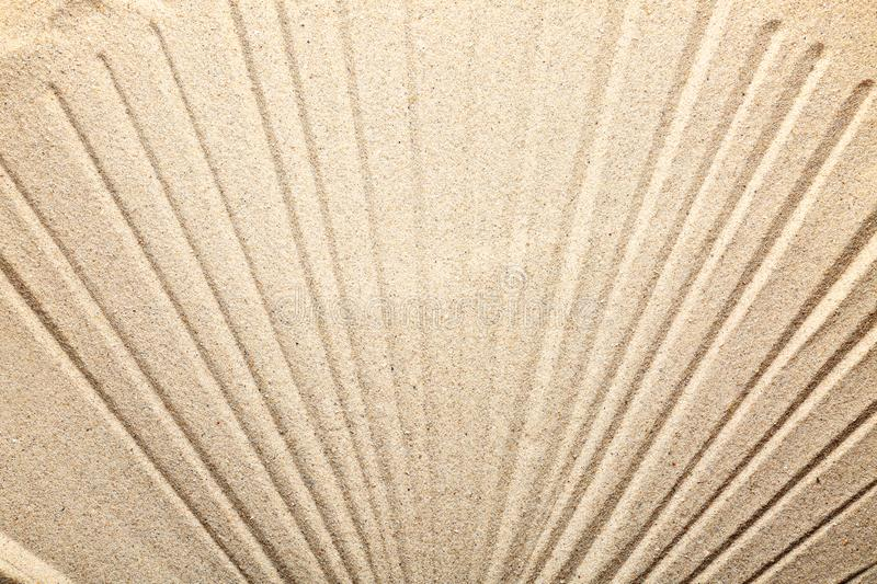 Sand with pattern, closeup stock images