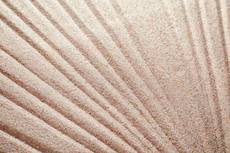 Sand with pattern, closeup royalty free stock photo