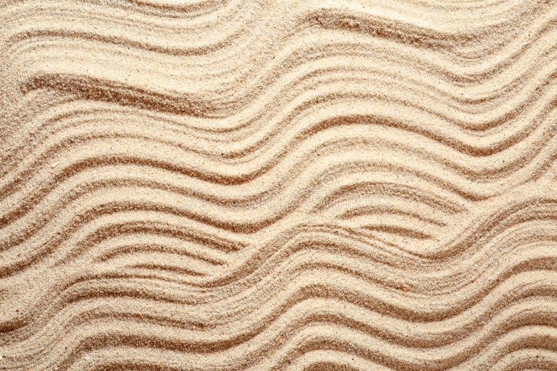 Sand with pattern, closeup stock photos
