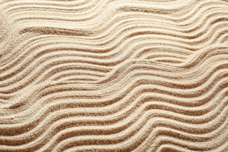 Sand with pattern, closeup stock photography