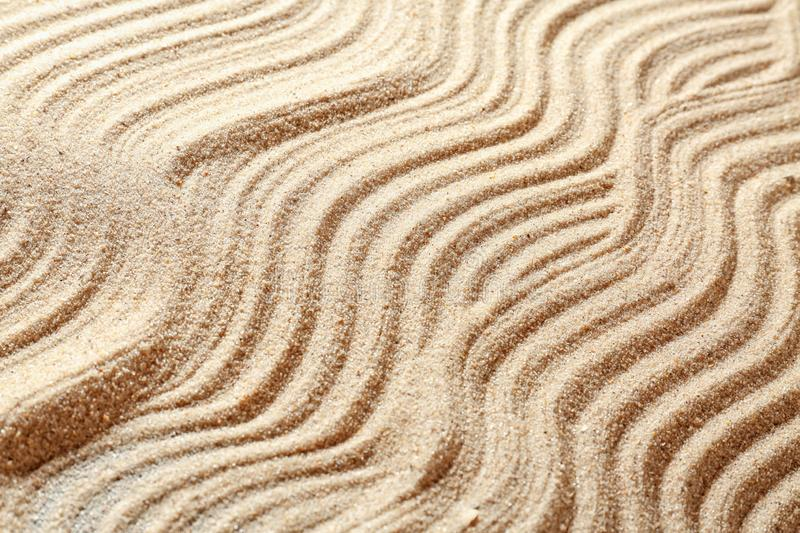 Sand with pattern, closeup stock image