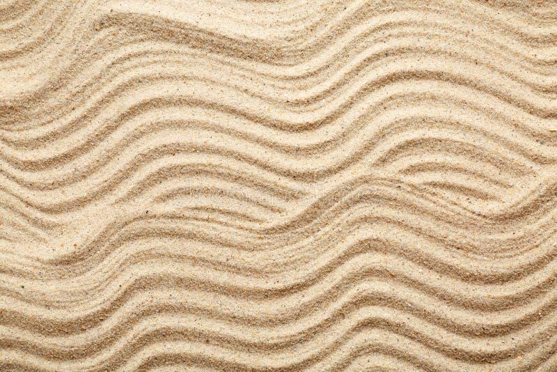 Sand with pattern, closeup stock photo