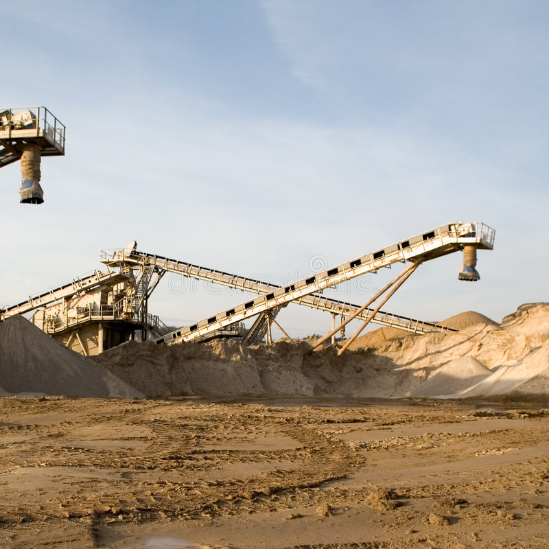 Sand Production Machinery royalty free stock photography