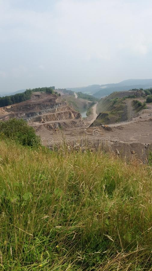 A sand quarry in Germany royalty free stock photos