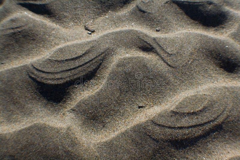 Sand ripple beach stock images