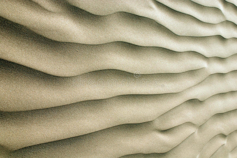 Sand ripples. A wave of ripples in the sand royalty free stock photos